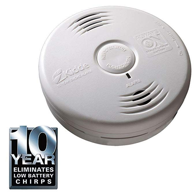 Kidde 10 Year Bedroom Sealed Lithium Battery Operated Smoke Alarm