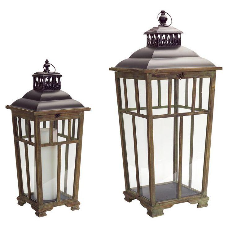 Melrose International Natural Lantern - Set of 2 - 64802