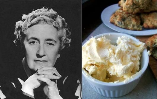 Agatha Christie - Fig and Orange Scones with Devonshire Cream