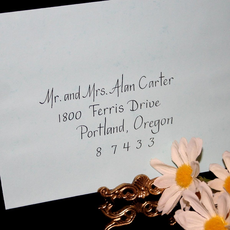 address wedding invitation unmarried couple%0A Calligraphy Envelope Addressing by Hand  Simple Text