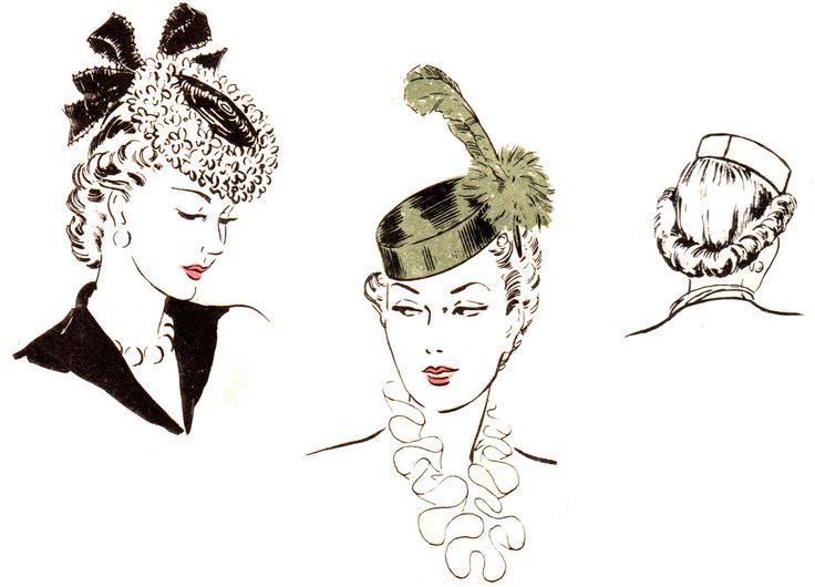 Tuppence medio penique: {} Semana Sombrero Cómo hacer un sombrero pastillero de inclinación 1940 http://blog.tuppencehapenny.co.uk/2011/01/hat-week-how-to-make-1940s-pillbox-tilt.html