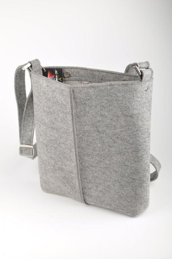 Light gray melange unisex bag Stella. Original by FELTTERRA, $100.00