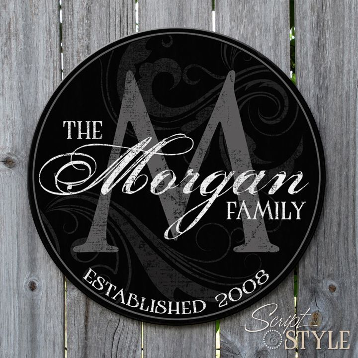 1000+ Ideas About Family Name Signs On Pinterest