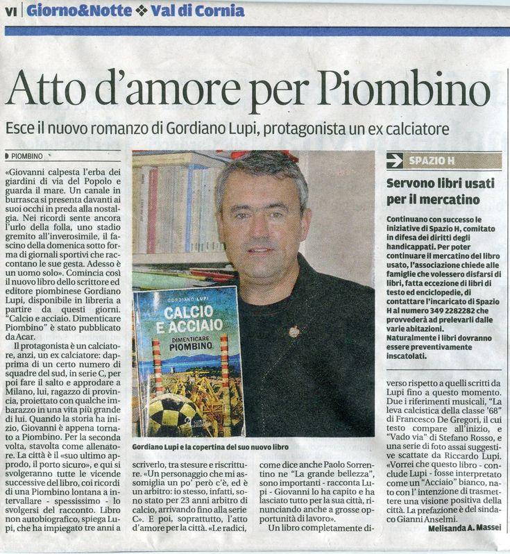 "Gordiano Lupi, ""Calcio e acciaio"""