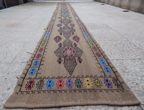 16-foot-Vintage-Extra-Long-Narrow-Handmade-Unique-Tribal-Kilim-Rug-Hall-Runner