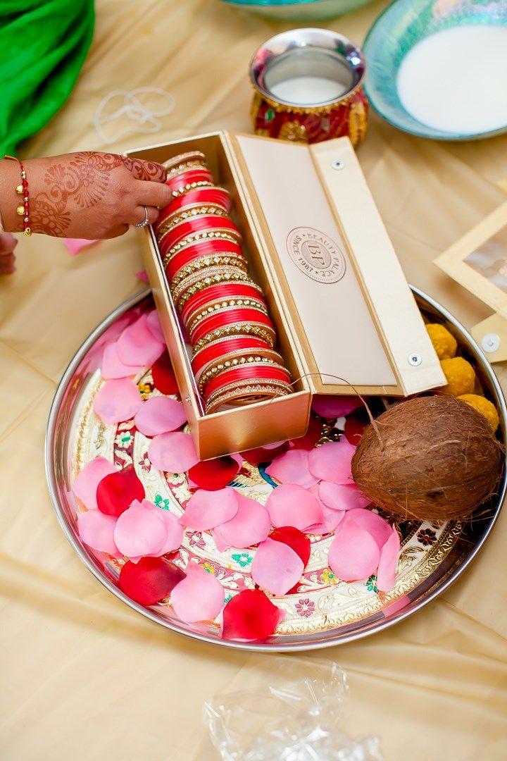 wedding bangles (choodas) for the bride | vibrant east indian sikh wedding