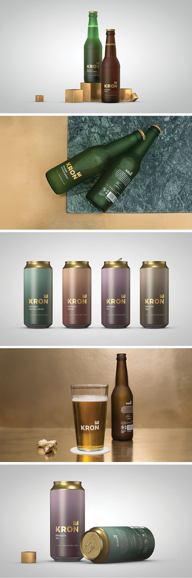 Krone (Crown) Beer packaging by [Team] Creuna Norway