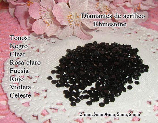 Diamantes de acrilico negro