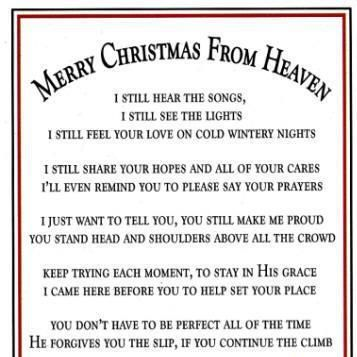 my first christmas in heaven poem author unknown printable poemview co