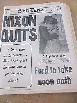 Nixon Quits - Chicago Sun Times 8-9-1974