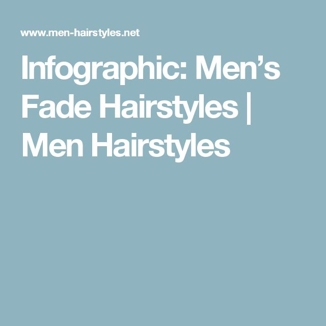 Infographic: Men's Fade Hairstyles | Men Hairstyles