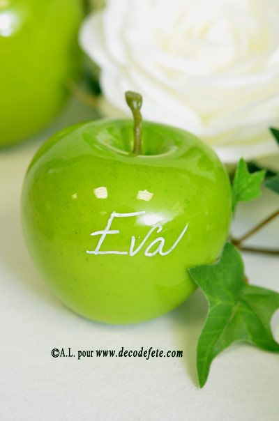 1 Pomme verte (déco de table)