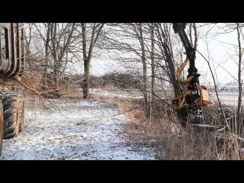 Hilfe bei allen #Sägearbeiten und #Baumpflege Arbeiten: Der Fällgreifer GMT 035. Die Fällhilfe GMT 035 von #Gierkink Machine Techniek