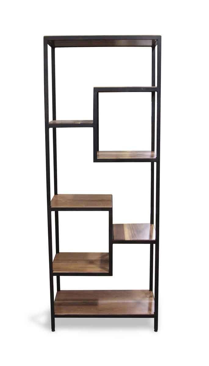 Handmade Walnut Black Steel Modern Shelf Olde Good Things Shelves Handmade Shelving Shelving Design