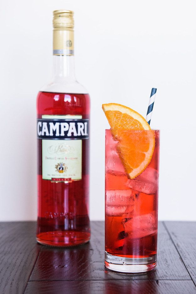 At cocktail hour, serve Campari and soda instead of beer, wine, or sugary cocktails.