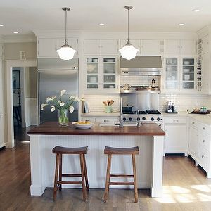 taryn emerson interiors white kitchen subway tile country cottage style kitchen island