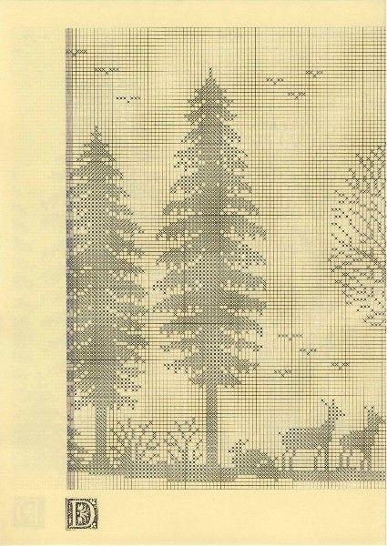 Szydełkomania Lesny paesaggio schema 3)