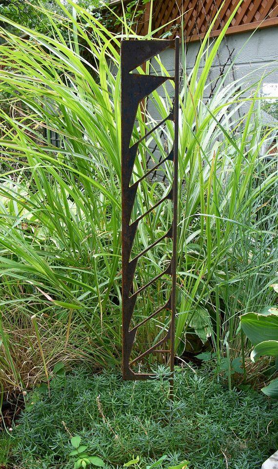 Decorative Garden Stake Unique Steel Garden Stake By MiscKDesigns