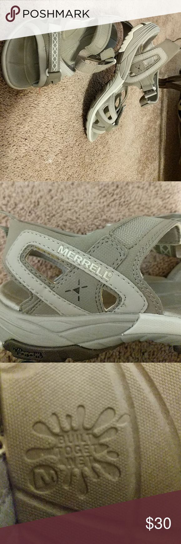 Merrell build to get wet water hiking sandals Worn twice build for water hiking and playing in the river. Shoes Sandals