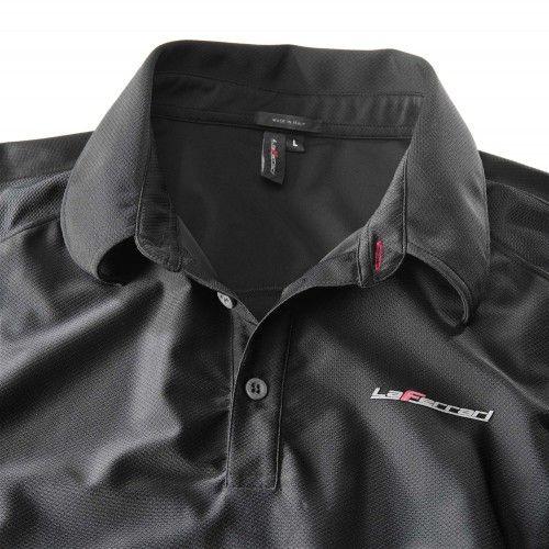 Men's LaFerrari polo-shirt #ferrari #ferraristore #laferrari #poloshirt #polo #men #him #limitededition #maranello #performance #innovation #style #ss2014 #springsummer2014 #madeinitaly #black #detail