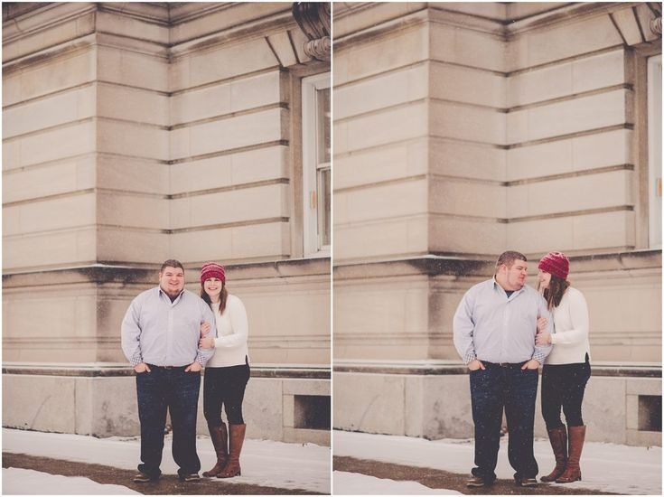 Marissa + Michael | Engaged | Kankakee, Illinois | Snowy Winter Kankakee Engagement Session – Kara Evans Photographer