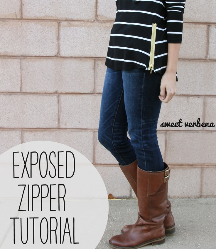 Cute and easy....Sweet Verbena: Exposed Zipper Top: a tutorial