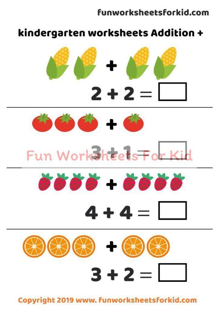 Addition For Kindergarten Worksheets Kindergarten Worksheets Additio Kindergarten Worksheets Kindergarten Math Worksheets Free Kindergarten Addition Worksheets