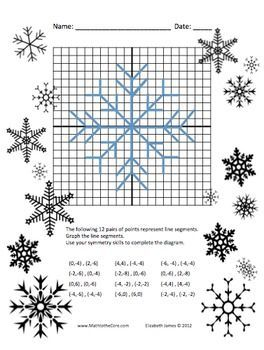 Super fun Snowflake Graph and Symmetry Activity Freebie
