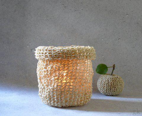 gk kreativ: Teelichthalter aus Paketschnur