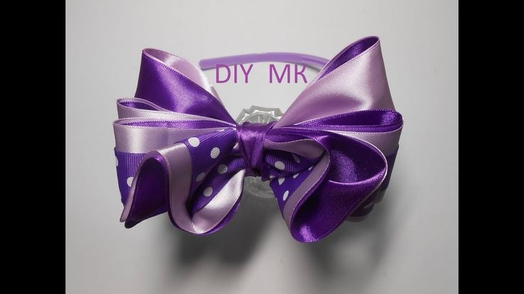 Бант из лент МК / DIY Ribbon bow / Tutorial. Passo a passo.Arco de fita