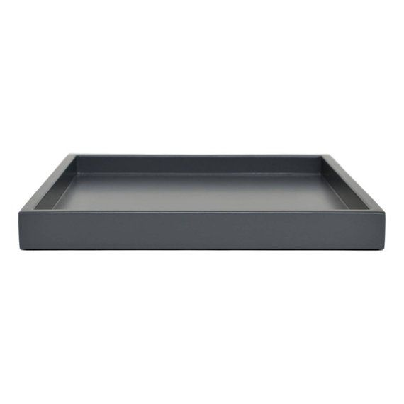 Outstanding Dark Gray Low Profile Modern Ottoman Tray Small To Extra Bralicious Painted Fabric Chair Ideas Braliciousco