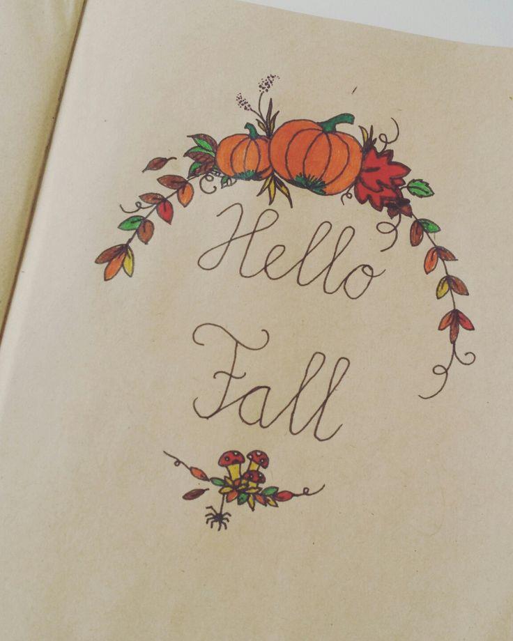 Handlettering Hello Fall!