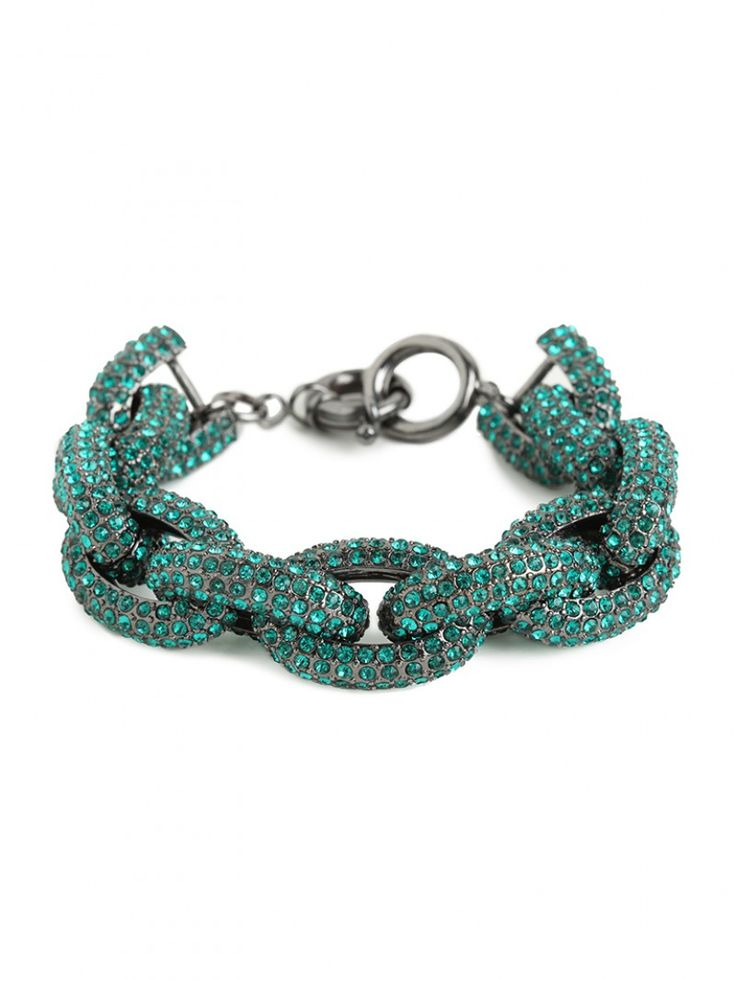 emerald pave links bracelet / baublebar