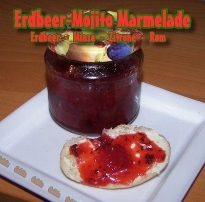 Bild von 'Erdbeer-Mojito Marmelade    (Erdbeer - Minze - Zitrone - Rum)'