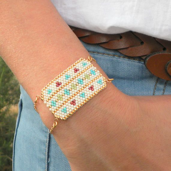 Native american beaded jewelry Cuff Bracelet Festival