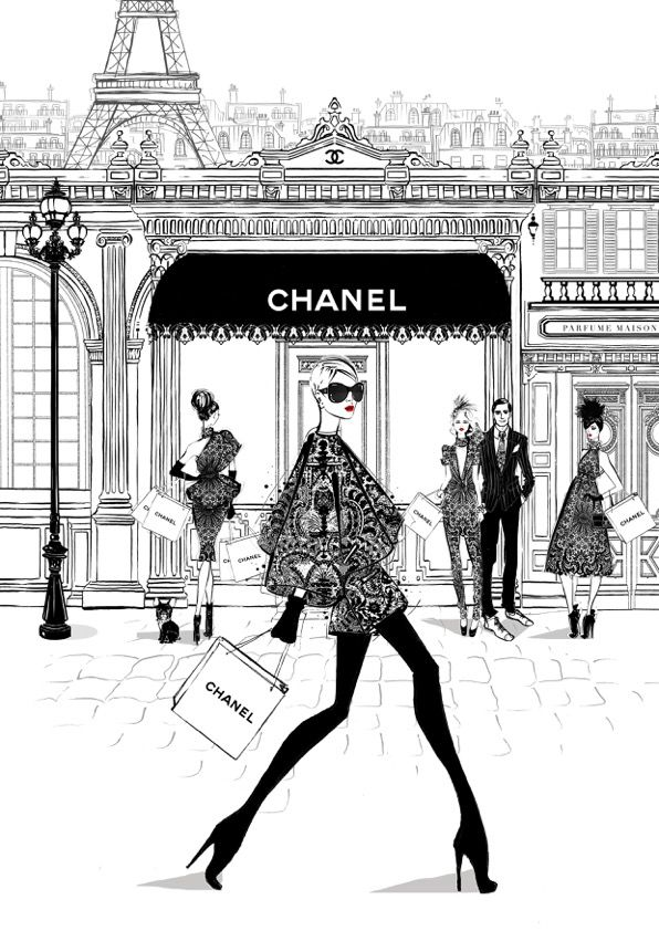 Megan Hess' Paris-inspired fashion illustrations