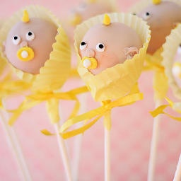 Baby shower cake pops by Just Cake Pops