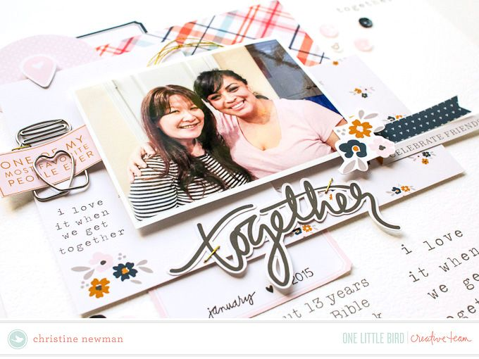 """Hello One Little Bird fans! Christine here today to show you how I put together my hybrid scrapbook page using One Little Bird digital products. """"Hybrid"""" can be a mysterious term and not all crafters/scrapbookers know what it means. The simple meaning is just using printed out digital products on physical projects. I will show you in this post how I go about doing that. First I will show you the end product of my …"""