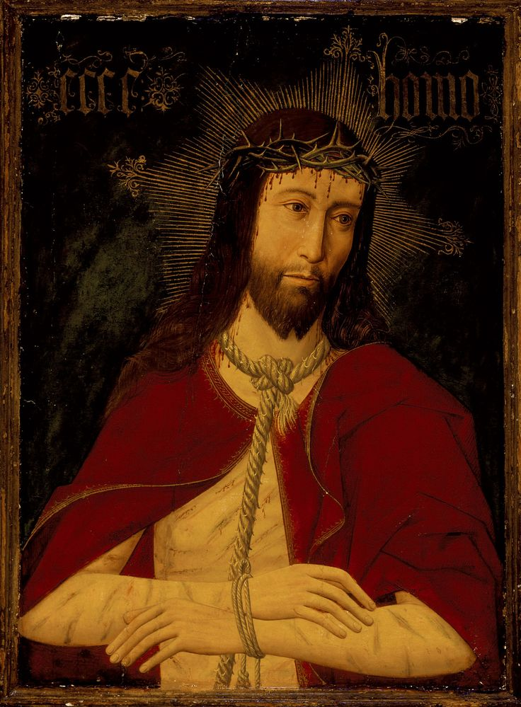 Christ with the Crown of Thorns / Cristo con la corona de espinas // circa 1500 // Master of Osma, Spain // © LACMA // #Jesus