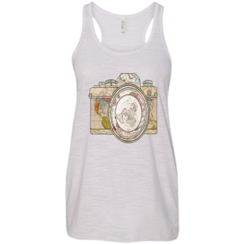 Picturing the World - Flowy Tank.Who doesn´t love to travel the world and take pictures to make memories that will last for ever? Now you can do it wearing this beautiful Tank Top and show everybody what your passion is.