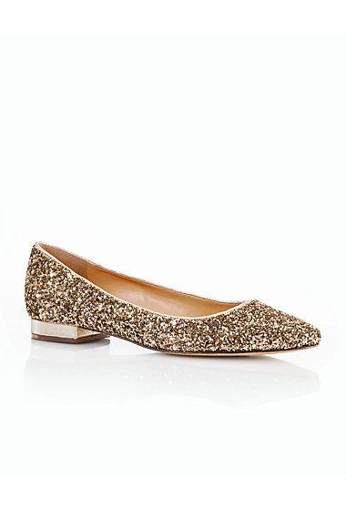 Talbots - Edison Glitter Pointy-Toe Flats | Flats |