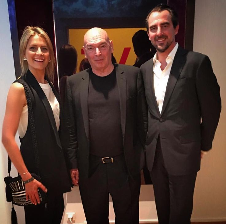 She looks absolutely lovely! At the Gagosian Gallery with husband Prince Nicholas of Greece and architect  and designer jean Nouvel.