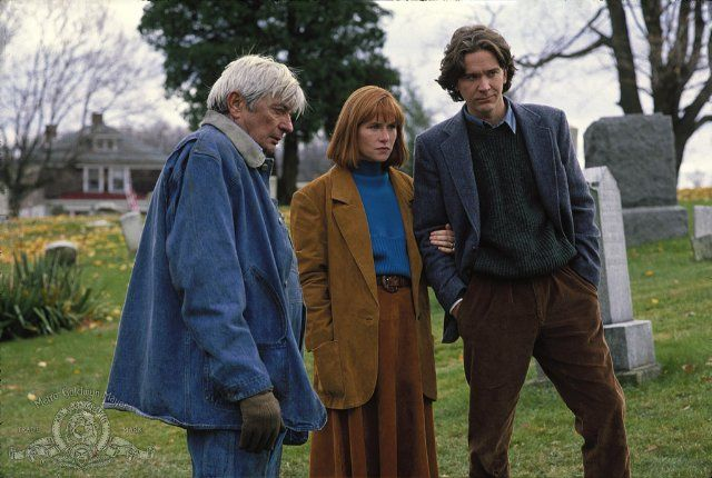 Still of Timothy Hutton, Amy Madigan and Royal Dano in The Dark Half (1993)