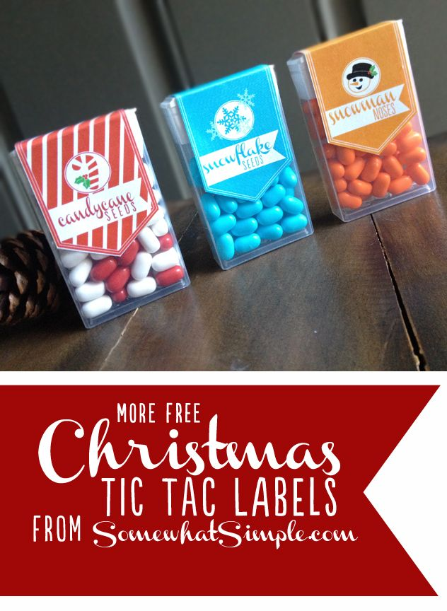 Download MORE Christmas Tic Tac labels for FREE!! Perfect for teachers, co-workers, classmates and for stocking stuffers!