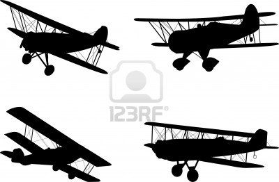 Vintage Airplanes Silhouettes Stock Photo 7906308 In The Air