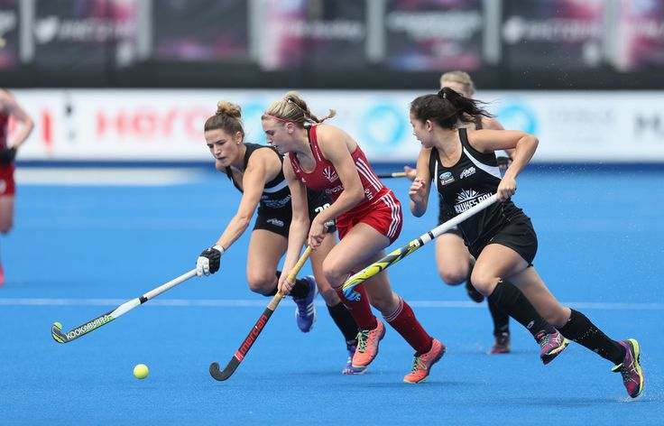 Lily Owsley of Great Britain during the FIH Women's Hockey Champions Trophy 2016 match between New Zealand and Great Britain at Queen Elizabeth Olympic Park on June 26, 2016 in London, England.