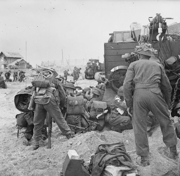 D-day - British army during the Invasion of Normandy, 6th June 1944.