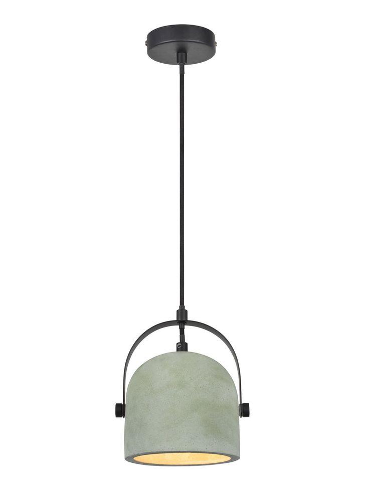 Finn 1 Light Pendant in Mint Concrete