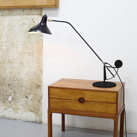 tischleuchte mantis 03 marke berhard schottlander by dcw. Black Bedroom Furniture Sets. Home Design Ideas