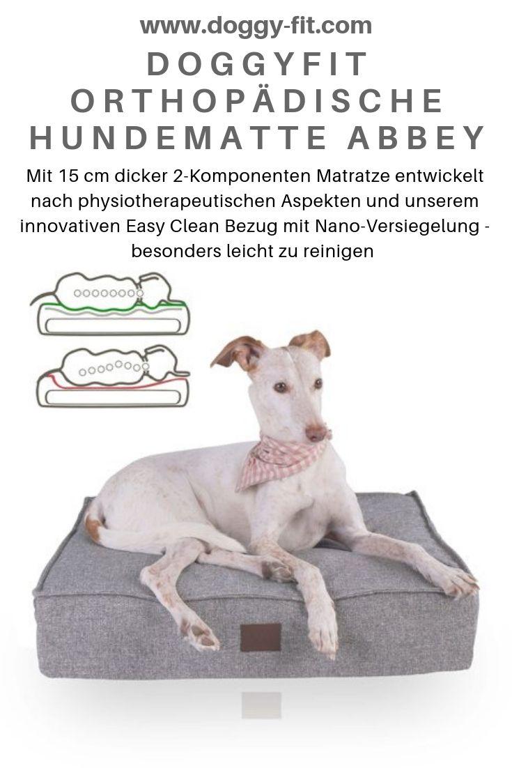 Orthopadische Hundematte Abbey Easy Clean Webstoff Farbe Grau Hunde Orthopadisches Hundebett Und Hunde Bett